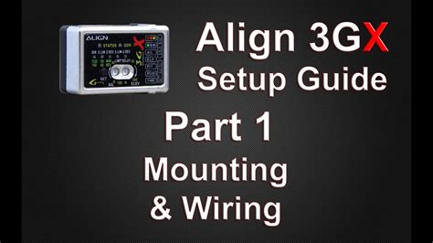 Align 3Gx To A Receiver Wiring Diagram
